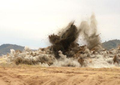 Arena blast testing