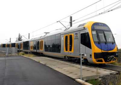 Windscreens, and side facing glass on UGL Outer Suburban Train - Sydney